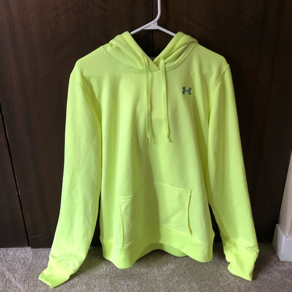 Neon yellow under armour hoodie